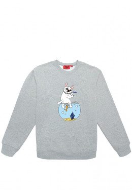 Худи Joint ХУДИ JOINT CREWNECK SWEATER AQUARIUM IDGAF (Grey)