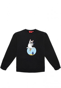 Худи Joint ХУДИ JOINT CREWNECK SWEATER AQUARIUM IDGAF (Black)