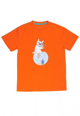 JOINT FALL`20 ФУТБОЛКА JOINT TEE AQUARIUM IDGAF (Orange)