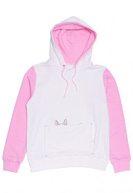 JOINT FALL`20 ХУДИ JOINT HOODIE HAPPY DOGGY (White/Pink)